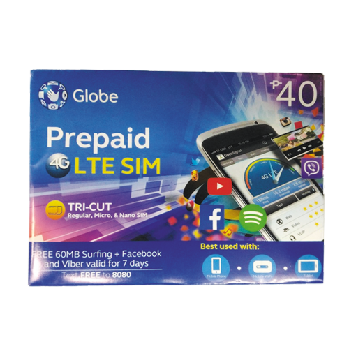 globe lte prepaid simcard